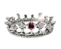 Unique Ruby Ring Diamond Ring Claddagh Jewelry Crown ring Prom jewelry Prom ring princess ring 14K gold 18K gold Crown ring crown jewelry $671.00