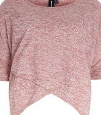 Dorothy Perkins Womens Izabel London Light Pink Wrap Front Top- Light pink oversized wrap front top. Round neckline. Short sleeves. Length 59cm. 50% Polyester,50% Viscose. Cold gentle machine wash. Do not dry clean. http://www.comparestoreprices.c...