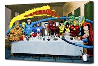 Marvel: Stan Lee's Super Supper - Mounted Canvas Wall Art £24.99