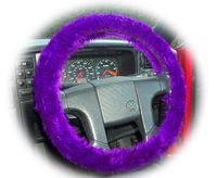 Purple Lover's you know you need to have this  Dark purple faux fur fuzzysteering wheel cover, it is such an amazing colour  Handmade from pretty purple faux fur fabric