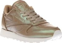 Reebok Beige Classic Leather Pearlized Womens With its pearly lustre and retro vibes, the Reebok Classic Leather Pearlized is a must-have this season. The versatile beige profile features a gentle sheen for a contemporary look, complete with a su http://w...