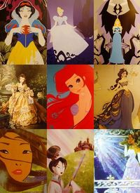 Disney princesses.