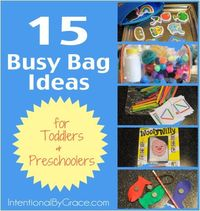 Need ideas for your toddler or preschooler? Try these busy bag ideas!