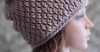 Crochet Pattern Easy Cable Hat