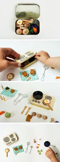mommo design: IN A MINT TIN... mini kitchen playset