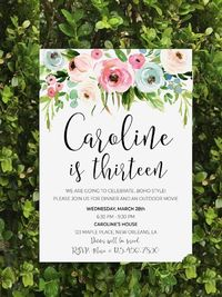 Break free from all monotony and come bask with me!... Styled by Michelle Wise of That Party Chick, this Boho Chic 13th Birthday Party will set you free! Detail