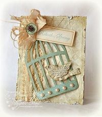 Cute design using the Tim Holtz Caged Bird die