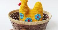 Little Things Blogged: {Crochet Easter Hen Egg Cozy Pattern}