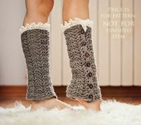 Instant download Crochet PATTERN for leg di monpetitviolon,