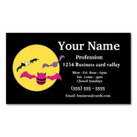 Halloween bats and moon business cards