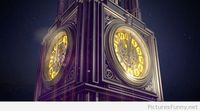 Beautiful clock tower New Year wallpaper