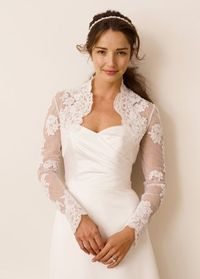 Davids Bridal lace jacket