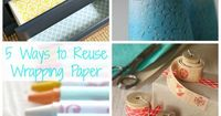 5 creative ways to reuse wrapping paper for kids and adults. Each is fun, simple, and will save that wrapping paper from the landfill!