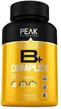 Peak Nutrition Super Vitamin B Complex Energy Health Supplement 60 Capsules