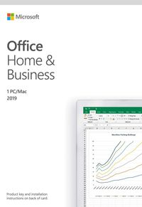Microsoft Office Home and Student 2019 | 1 person, Windows 10 PC/Mac Key Card, English $145.00