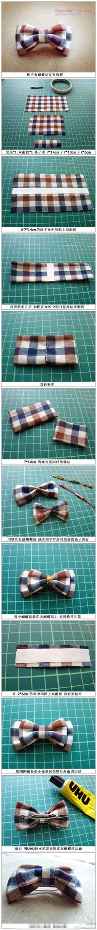 Turn into Bowtie instead of bow for hair.