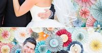 DIY paper flower photo booth backdrop.