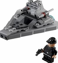Lego Star Wars Star Destroyer 75033 Control the galaxy with the cool LEGO Star Wars Star Destroyer microfighter. Youll be amazed how many details have been crammed into this miniature-size version of the Empires giant starship, like eng http://www.compare...