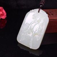White Jade Horse Pendant-Amulet Necklace-Men's Necklace-horse pendant necklace-men's necklace pendant-necklace for him