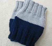 Basic Boot Cuff pattern - so great but I am making them in beige and grey.