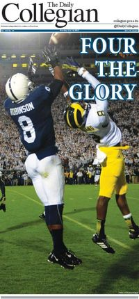 Daily Collegian Front Page after the Michigan game.