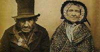 Veteran of Waterloo with his Wife, Anon. 1850s. © Bruce Bernard Collection