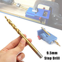 3/8 Inch 9.5mm Twist Step Drill Bit With Titanium Coated for Pocket Hole Jig Woodworking
