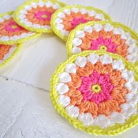Flower Coaster Tutorial #Crochet