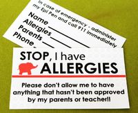 I realized with school starting back up, a lot of my mommy friends have to deal with sending their little ones off with food allergies and the concern they face