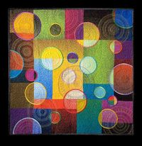 "Quilt by Libby Lehman, ""High Hopes"" �€"" with Libby Lehman."