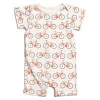 Summer Romper - Bicycles Orange - WWF $39