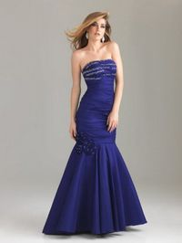 Beading Bust Long Floral Pleated Purple Mermaid Maxi Gown Sale