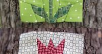 Tulip paper pieced quilt pattern by ProtoQuilt