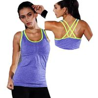 Women Pro Gym Padded Sports Tank $27.99