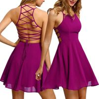 Women's Party Cocktail Backless Bandage Sleeveless Mini Dress $25.99