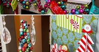 love the mantle. colors for the girls christmas decor and room. how can I make a ornament swag like that ? hmmmm