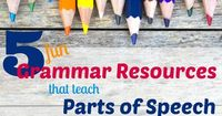 Looking for resources that teach parts of speech in fun and engaging ways? Check out this exciting variety of activities, workbooks, and picture books.