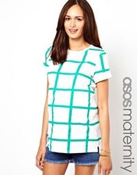 ASOS Maternity Exclusive T-Shirt In Check