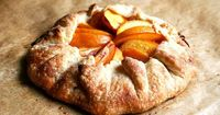 Peach Frangipane Galette ~ by AlexandraCooks at Food52.com