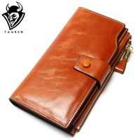 Multifunctional Purse Genuine Leather Wallet Women Long Style Cowhide Purse Wholesale And Retail Bag R383.70