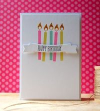 Birthday Candles Card by Cristina Kowalczyk for Papertrey Ink (March 2013)