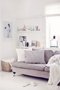shelving for tv room, via nordic living room