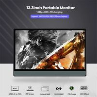 T-Bao T13A 1080P Type C Portable Computer Monitor Gaming Display Screen for Smartphone Tablet Laptop Game Consoles
