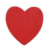 Pack of 100 Mini Wooden Red Heart Stickers. 13mm x 18mm. Ideal for Craft, Scrapbooking, Cardmaking & Decorating. Beautiful Love Designs £5.39