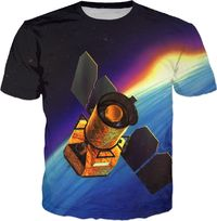 ROTS Satellite In Space Adult T-Shirt $25.00