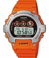 Casio Mens Orange Illuminator LCD Watch The incredibly water resistant Casio Mens Digital Illuminator LCD Orange Watch can resist water for up to 50m as well as being packed with a countdown timer. an alarm. and an LCD display with illumina http://www.com...