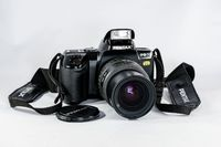 PENTAX PZ70 High End SLR Film Camera with TAKUMAR-F 28-80mm Zoom Lens and Back Data Module. Mint! $154.95