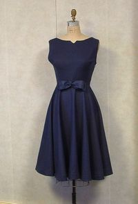 Vintage dress 1950s style HANDMADE by VintageCostumes #Navy #Blue #maidofhonor #bridesmaids