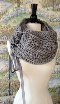 Infinity Scarf Crochet Pattern DIY Scarf or Oversized Chunky Cowl