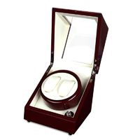 Luxury Wood Red 2-slot 5 Modes Automatic Watch Winder $132.99